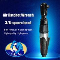 Air Ratchet Wrench Auto Repair 3/8 Industrial Grade Large Torque Power 1/2 Pneumatic Tool 1/4 Pneumatic Wrench