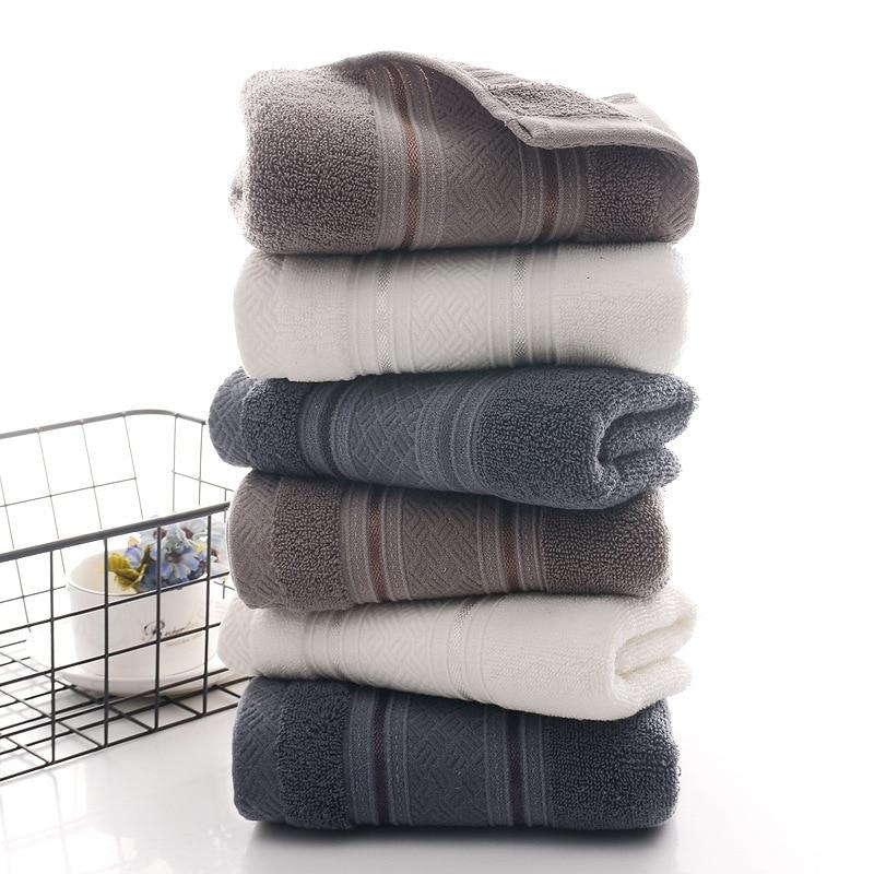 British Style Simple Solid Color Plain Pattern Man Washcloth Travel Hotel Bath Towel Bathrobe Camping Gym Portable Face Towels 2