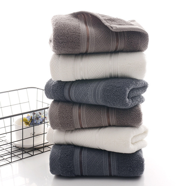 British Style Simple Solid Color Plain Pattern Man Washcloth Travel Hotel Bath Towel Bathrobe Camping Gym Portable Face Towels 2