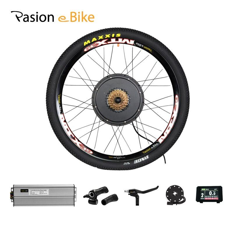 7 48V 1500W Kit Bicicleta Elétrica-Velocidade Da Roda Do Motor e Kit de Conversão Bicicleta 1500W para 20 24 26 700C 28 29 polegada Kit De Motor Elétrico Roda
