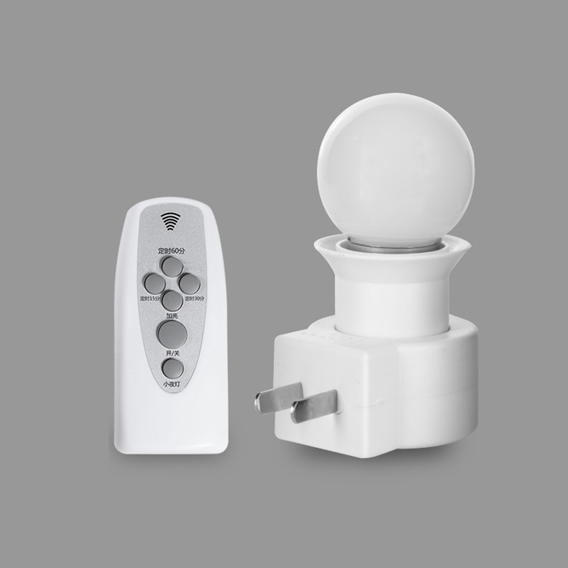 Smart LED Night Light Wireless Remote Control Timing And Dimming Night Lamp Plug-in Bedroom Bedside Small Wall Lamp
