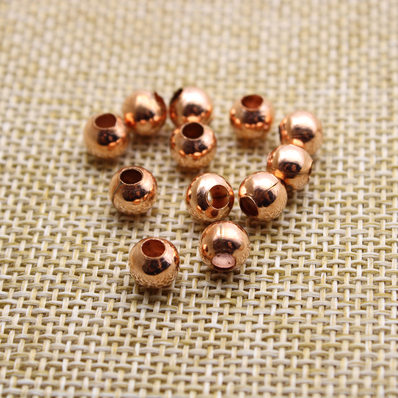 200pcs Rose Glass Beads Spacer Bead charms Jewelry Accessories 6mm