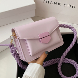 SWDF Solid Color PU Leather Sac A Main Femme Crossbody Bags For Women 2021 Summer Small Shoulder Handbags Female Chain Bag