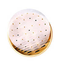 50pcs/bag White Steamer Paper 9 Inch Disposable Non-stick Oil Paper Bread Steamer Cage Paper Steamed Mesh TooL