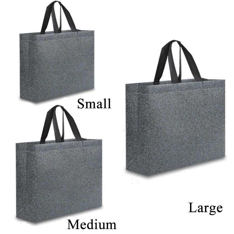 2019 kadın katlanabilir geri dönüşümlü alış veriş torbası yeniden kullanılabilir alışveriş çantası büyük kapasiteli olmayan dokuma kumaş alışveriş çantası bakkal kılıfı