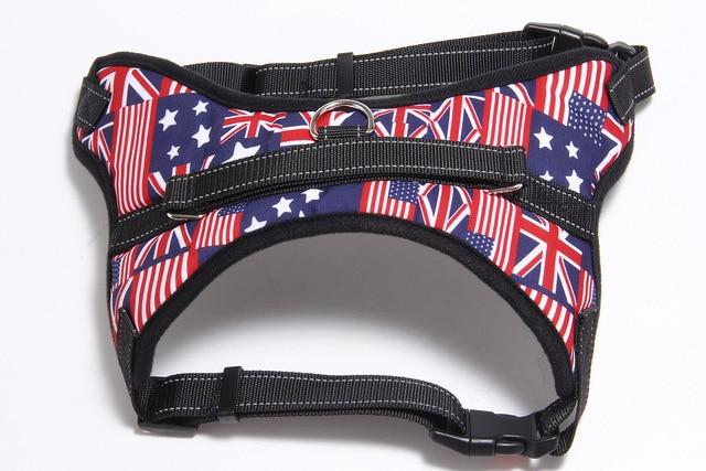 125/5000 Adjustable Nylon Dog Harness Reflective Dog Collar Personalized Dog Harness and Leash Set Small Medium Large Dog Harne 4