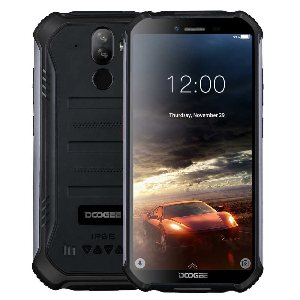 "Doogee s40 lite ip68/ip69k áspero telefone android 9.0 torta mtk6580 quad core 2 gb ram 16 gb rom 5.5 ""ips display 8mp duplo cams nfc"