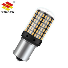 YOUEN T20 7440 W21W LED Bulbs 3014 144smd led CanBus No Error 1156 BA15S P21W BAU15S PY21W lamp For Turn Signal Light No Flash 2pcs turn signal light 1156 ba15s bau15s 7507 7440 led no hyper flash amber 144smd t20 w21w canbus led bulbs