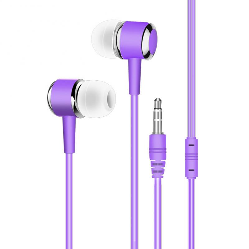 3.5mm Jack Earphone With Microphone For Mobile Phone Samsung Huawei XiaoMi Tablet Computer PC Portable Sweatproof Sport Earbud