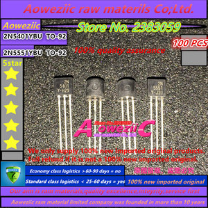Image 1 - Aoweziic 2020 + 100% nuovo originale importato 2N5401YBU 2N5401 2N5551YBU 2N5551 TO 92 A Bassa Potenza Triodo Transistor