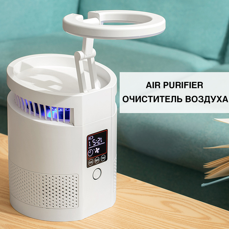 Air Purifier True HEPA Filters Compact Desktop Purifiers Filtration with Night Light Air Cleaner For Home Ozonizer Air Wholesale
