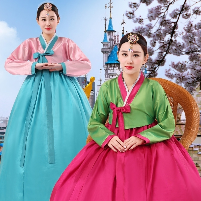 Korean Traditional Hanbok Costumes National Dance Improvement Hanbok Dress Female Adult Costume Stage Performance Costume SL1570