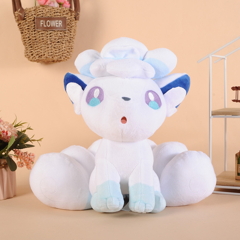 TAKARA TOMY Pokemon Doll Stuffed Genie Treasure Dream Sun Moon Arora Ice Fire Vulpix Nine-tailed Fox Plush PKM Toy image