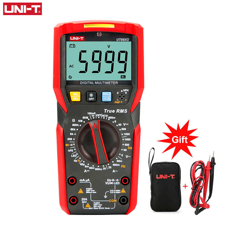 UNI-T UT89X UT89XD 전문 디지털 멀티 미터 True RMS NCV 20A 전류 AC DC 전압계 커패시턴스 저항 테스터