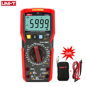 UNI-T UT89X UT89XD profesjonalny multimetr cyfrowy true rms NCV 20A prąd woltomierz ac dc pojemność tester rezystancji tanie i dobre opinie Elektryczne UT89X UT89XD 60mA 600mA 20A 6V 60V 600V 1000V 100mF Manually Cyfrowy wyświetlacz 60miuA 60mA 600mA 20A 600mV 6V 60V 600V 1000V