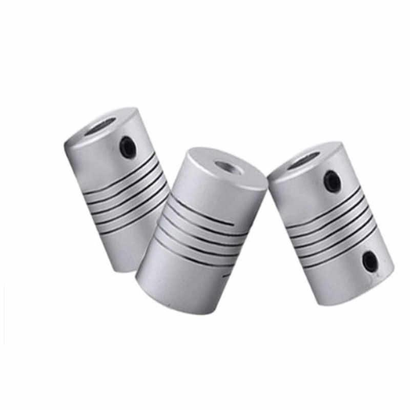 อลูมิเนียม CNC มอเตอร์ Jaw SHAFT Coupler 5mm ถึง 8mm มีความยืดหยุ่น Coupling OD 19x25 มม.Dropshipping 2/2.3/3/3 17/4/5/6/6 35/7/8/10 มม.