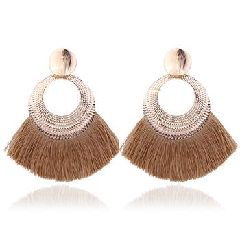 LATS 2020 Long Tassel Earrings for Women Big Fashion Statement Dangle Earring Bohemian Fringe Vintage Earring 5