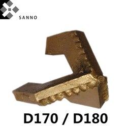 Broca de tres cuchillas D170/D180, brocas de roca de aleación octagonal dura, 3 Alas, broca de perforación, piezas de bomba de lodo para minería y pozos