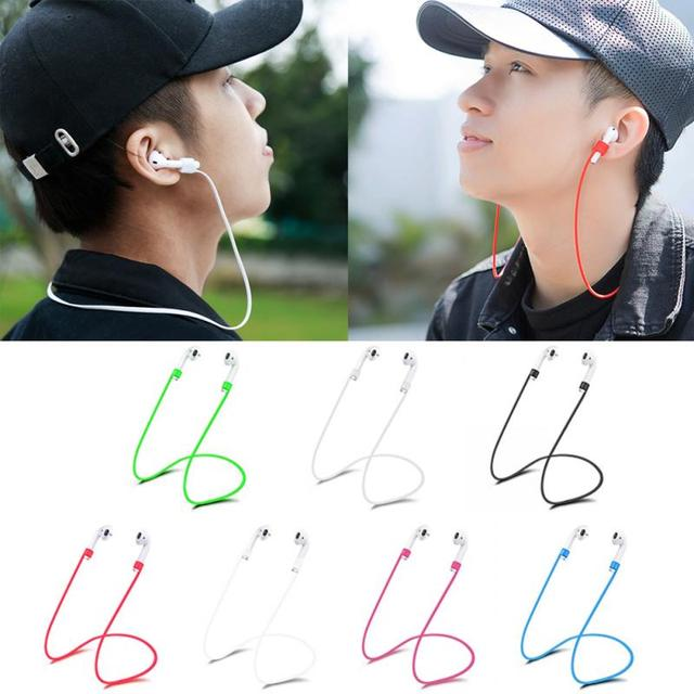 Silicone Anti-lost Neck Strap Wireless Earphone String Rope for Apple AirPods Earphone Accessories Portable Audio & Video
