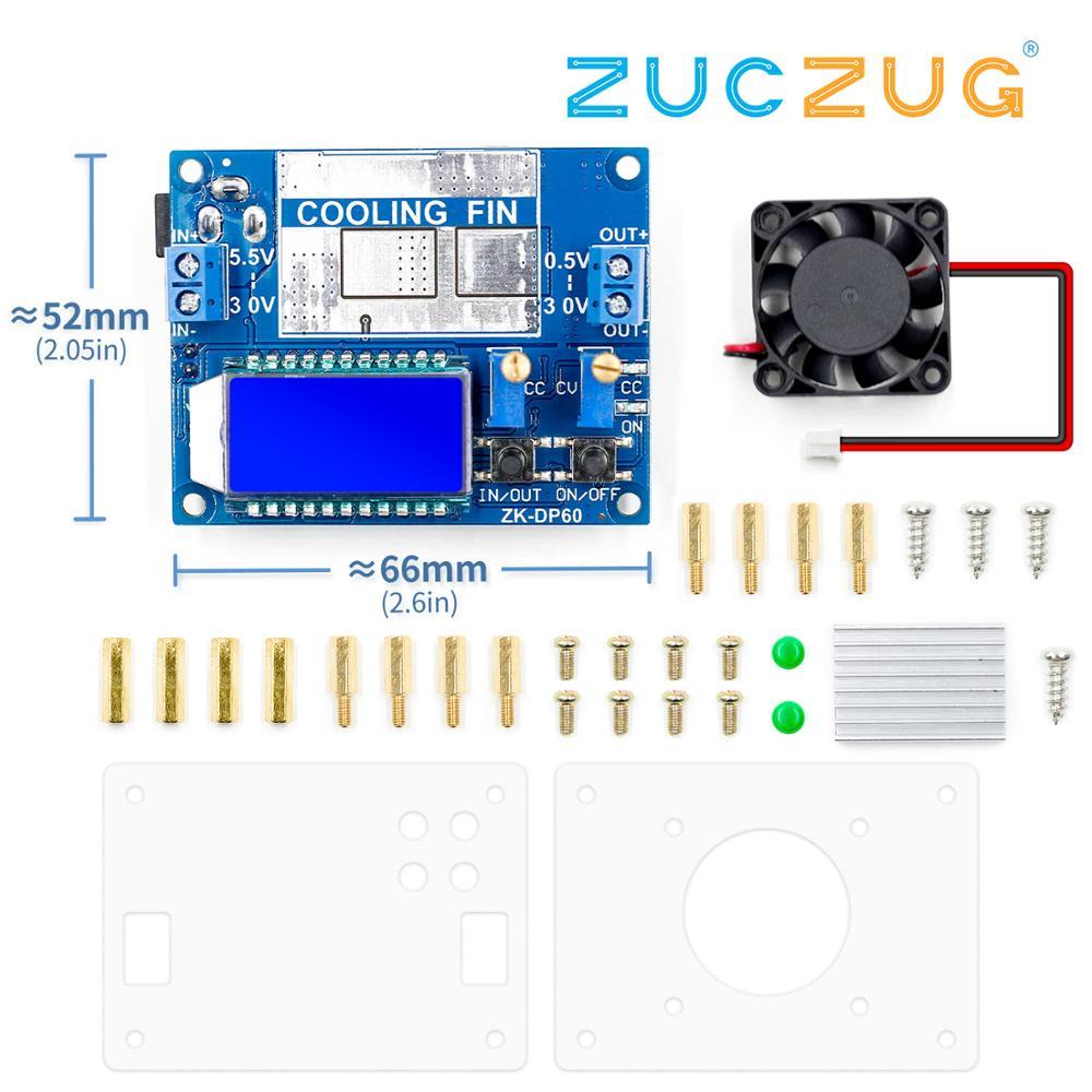 DC DC Automatic Boost/Buck Converter CC CV Power Module 0.5-30V 6A 60W Adjustable Regulated power supply Voltmeter ammeter