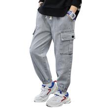 Big Boy Jeans sznurkiem dżinsy chłopców wiosna jesień dzieci dżinsy Casual Style ubrania dla chłopców 6 8 10 12 14 tanie tanio Honikuyi Na co dzień Pasuje prawda na wymiar weź swój normalny rozmiar 11N0229 Elastyczny pas Chłopcy REGULAR Medium