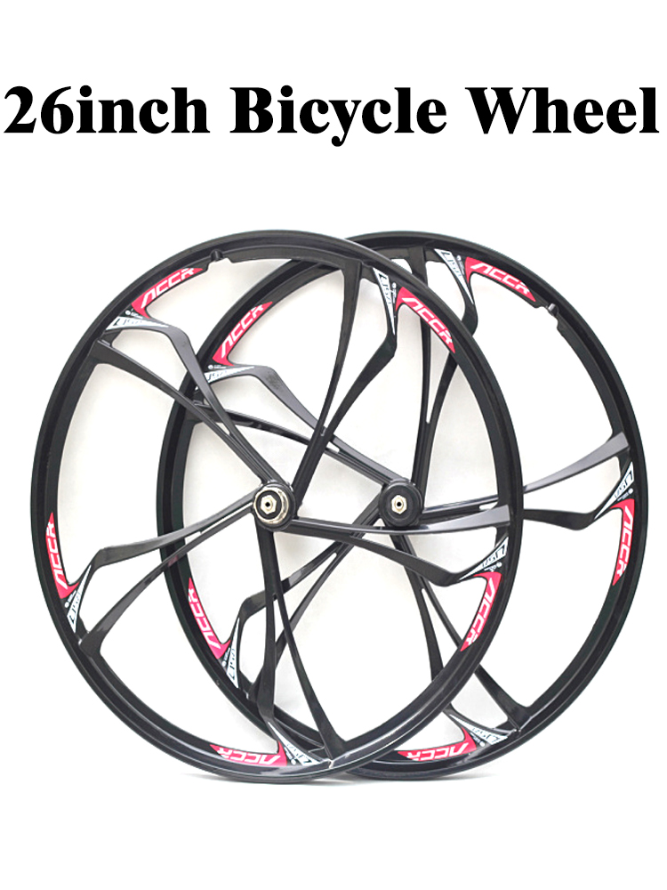 26 inch Magnesium Alloy bike wheels front /& rear with cassette mountain bike