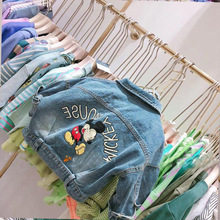 Spring Autumn baby girls denim jacket boys coat children fashion outwear for