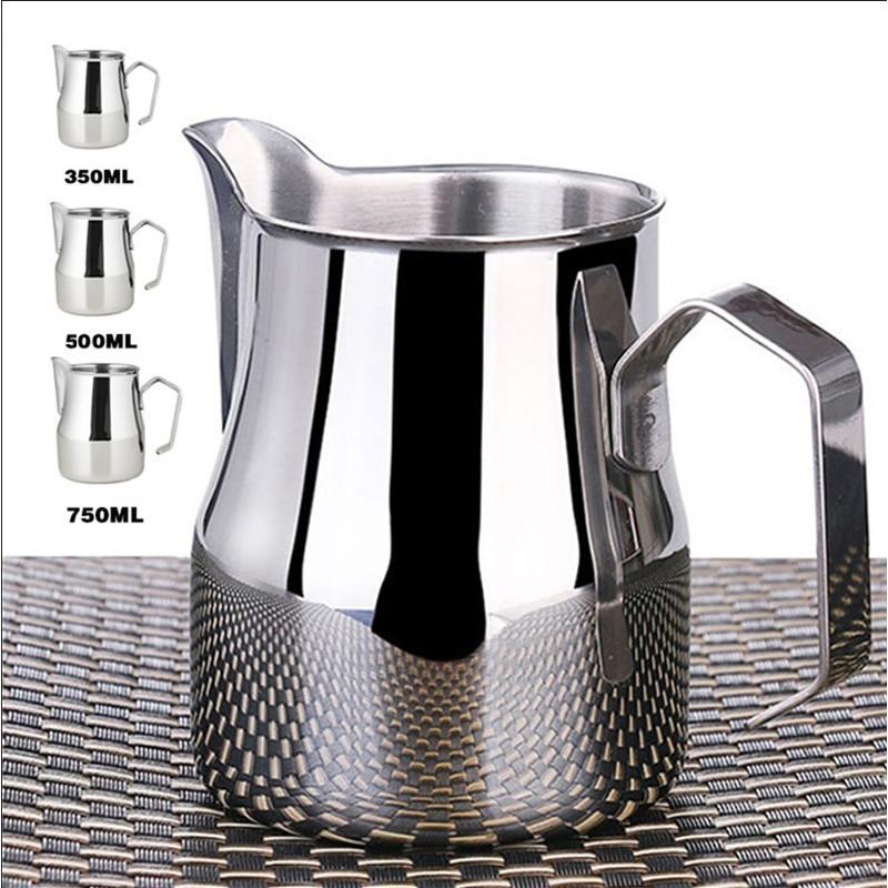 Stainless Steel Milk Jug Espresso Cups Coffee Foamer Mugs Italian Latte Art Latte Milk Frothing Jug Pitcher Cup 350/500/750 Ml