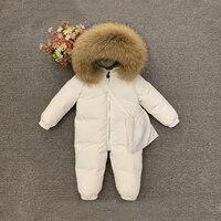 Dollplus Children Infant Girl Winter Clothes Baby Snowsuit One Piece Kids Boy Overalls Hooded Jumpsuit Girls Romper for Newborns
