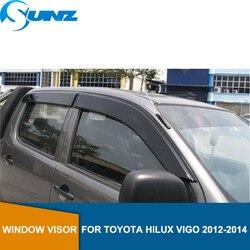 Ветровые дефлекторы для Toyota Hilux Vigo 2012 2013 2014 защита от дождя на окна для Toyota Hilux Vigo 2012-2014 автомобильные аксессуары SUNZ