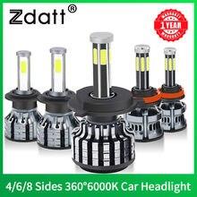 H1 H7 Led 360 H4 16000LM HB3 HB4 H11 Led H8 9006 9005 Auto Koplamp Lamp Canbus 6000K 12V 60W Super Cooling Mistlampen Voor Auto
