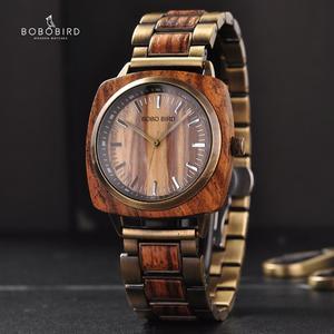 Image 2 - Bobobird 高級ゼブラウッドは女性男性ファッション腕時計時計 erkek kol saati ギフトボックス受け入れるカスタマイズロゴ L T06
