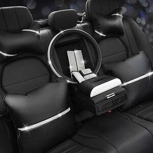 Image 1 - Автомобильная подушка для сиденья, защита для шеи, Кристальный Автомобильный подголовник, поддержка отдыха, путешествия, чехол для колеса автомобиля, подголовник, подушка для шеи на талии