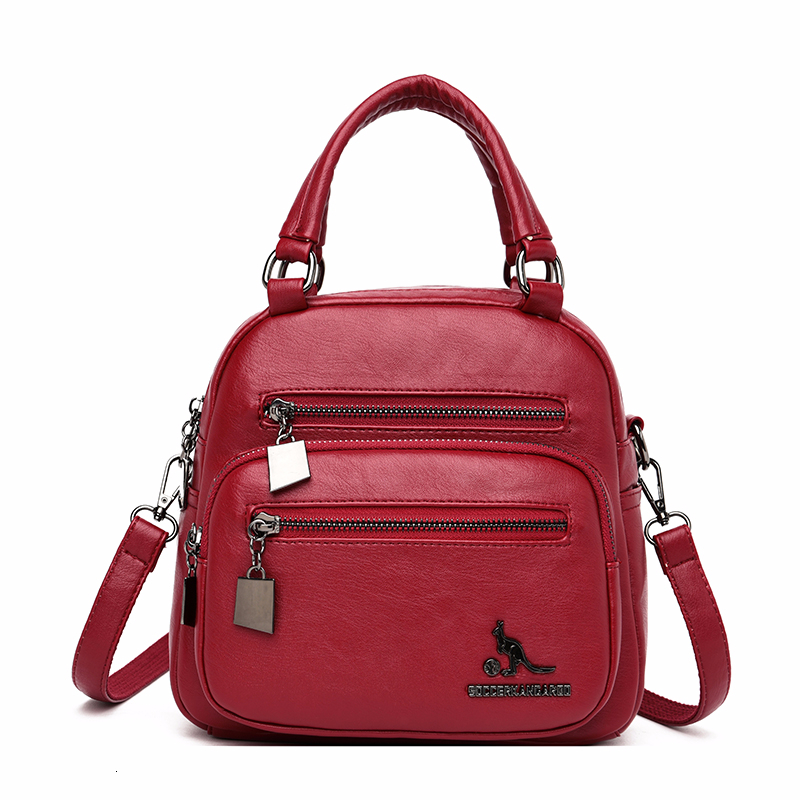 2019 Small Multifunction Leather Backpack For Girls Sac A Dos Women Leather Backpacks High Quality Sac A Dos Female Bagpack New