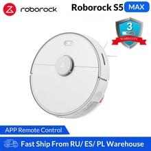 Roborock Robô aspirador de pó inteligente S5 Max, para limpeza doméstica, varredura robótica, esfregão, atualização do aparelho Roborock S50 S55 S5 para carpetes