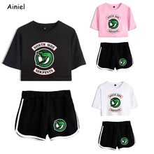 Riverdale Southside T Shirt Tees T shirt Shorts Sport Suit South Side Serpents Riverdale Cosplay Clothing Women Running Shirt