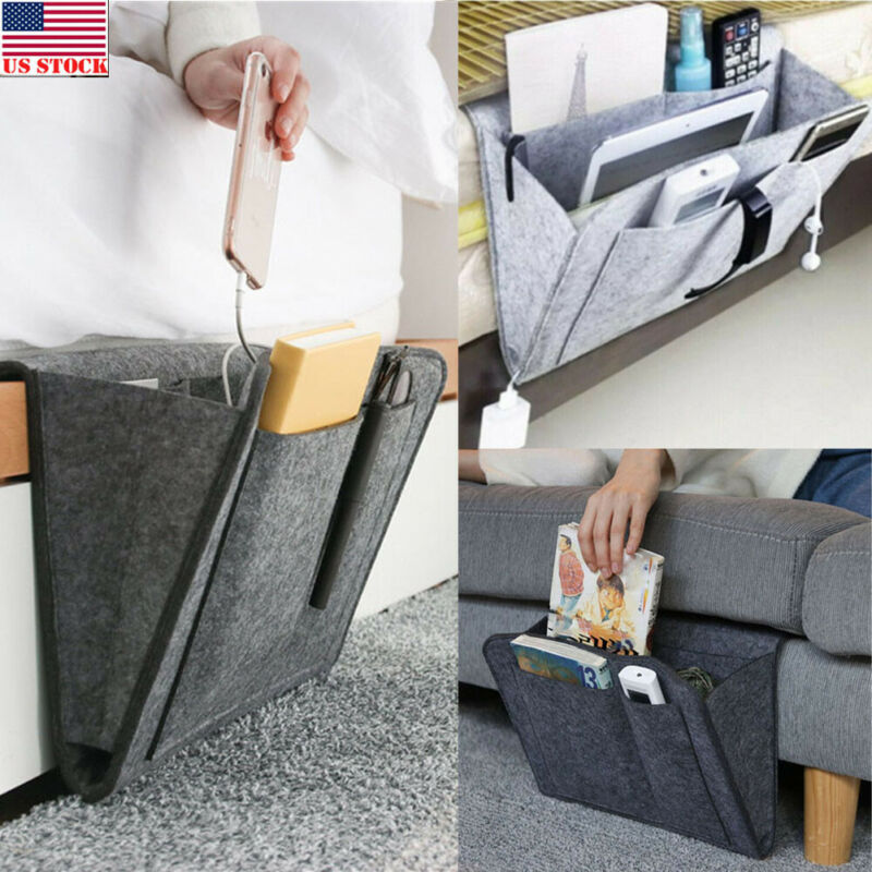 The Upper Bunk Bed Of The Dormitory Receives Hanging Bags Student Bedside Pocket Caddy Storage And Storage Bag