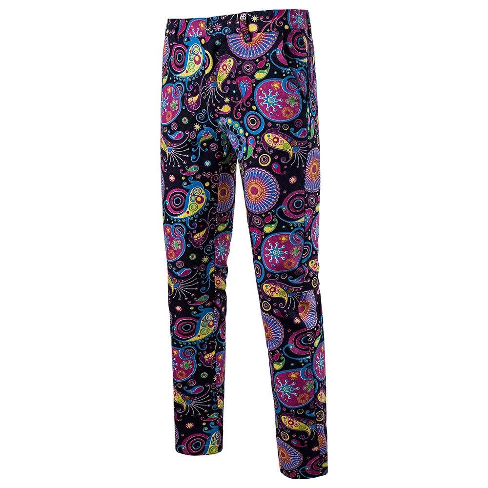 Мужская Мода Национальный Ветер Повседневное модные Для мужчин Блейзер Для мужчин s Брюки - Цвет: 09