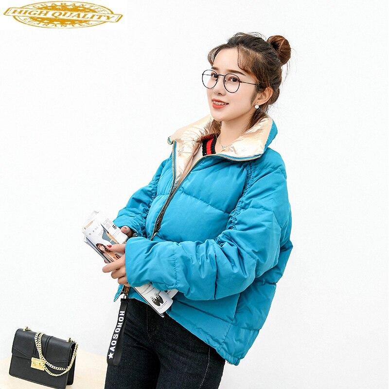 2020 New Women's Down Jacket Winter Coat Women Double-sided Loose Korean Short Warm Women's Jackets Doudoune Femme KJ761