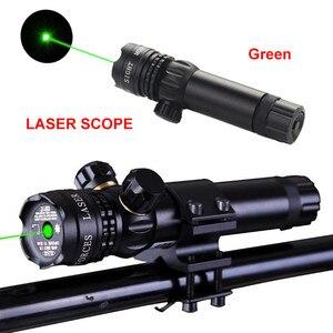 Лазерная указка зеленая/красная точка тактический охотничий винтовочный пистолет лазерный внешний лазерный прицел высокой мощности перек...