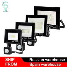 100W LED Floodlight Wall-Lamp Motion-Sensor Outdoor Waterproof 240V 220V 50W 20W 30W