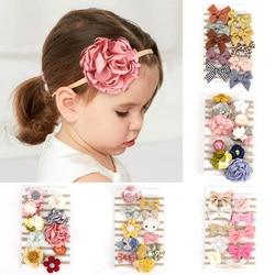 10 pçs/set bonito arcos bebê recém-nascido bandana flor elástica bebê menina headbands faixa de cabelo princesa do bebê meninas acessórios de cabelo