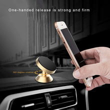 Magnetic Car Phone Holder 360 Degree Metal Bracket Car Universal Mobile Phone Holder Support Self-Priming Magnetic Car Accessory стоимость