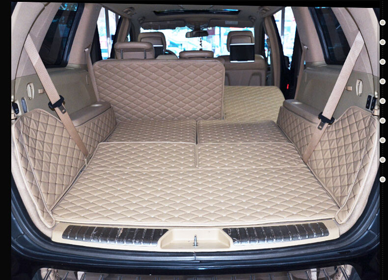 Good quality! Special trunk mats for Mercedes Benz GL 550 X164 7 seats 2011-2006 durable cargo liner boot carpets for GL550 2010 image