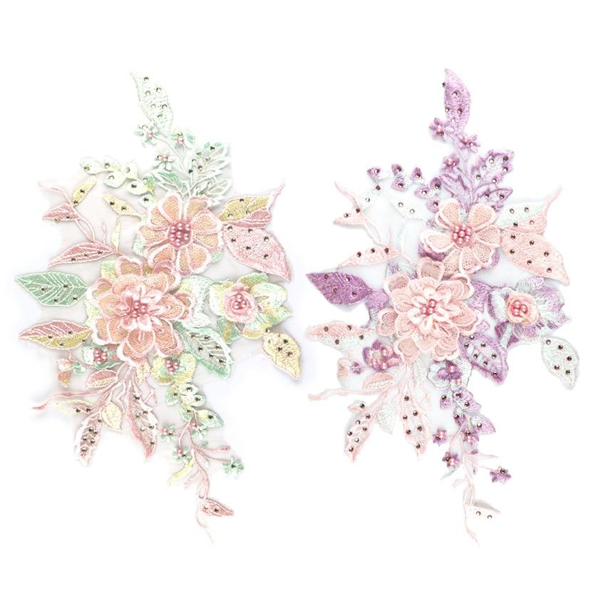 2019 Fashion High Quality Handmade Flower Wedding Dress Patches 3D Flower Applique