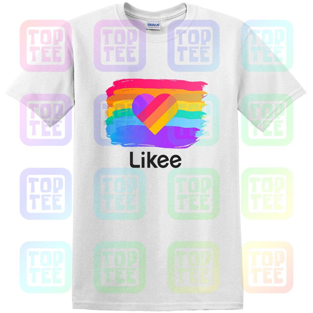 Likee App Funny Shirt Heart T-shirt Cool Graffiti Streetwear Tee