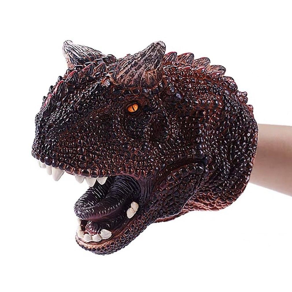Soft Dinosaur Hand Puppet Tyrannosaurus Rex Head Hand Puppet Figure Gloves Toys Children Role Play Gif