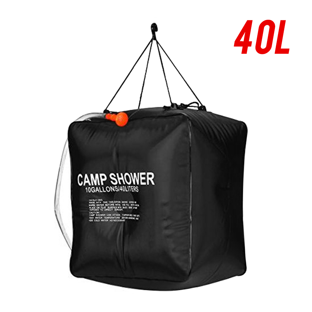 20/40L Solar Heated Shower Bag Outdoor Portable Shower Bathing Bag Traveling Camping Hiking Climbing Body Pet Cleaning Water Bag