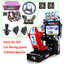 Outrun гоночный автомобиль Вождение Аркадный Игровой Комплект с материнской платой, проводами, рулевым колесом, зубчатой палкой, ускорителем и тормозом для DIY
