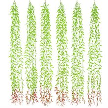 Artificial Vines Fake Greenery Garland Willow Leaves Hanging Plants For Wedding Party Garden Wall Home Decoration Accessories